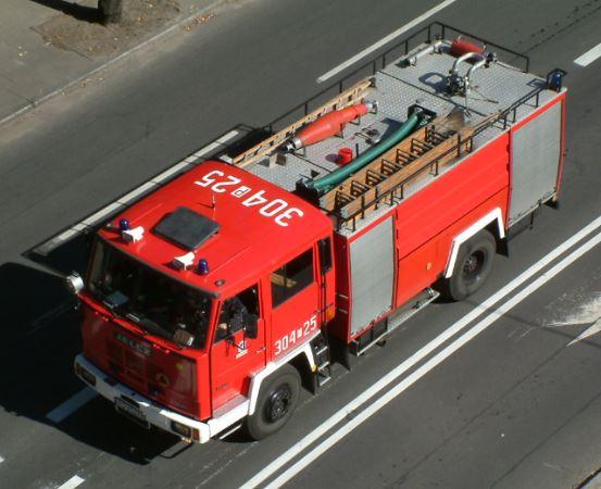 KMPSP Bielsko-Biała: Pożar w piwnicy budynku mieszkalnego