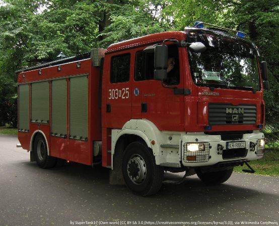 KMPSP Bielsko-Biała: Pożar przy ulicy Malowany Dworek oraz Londzina